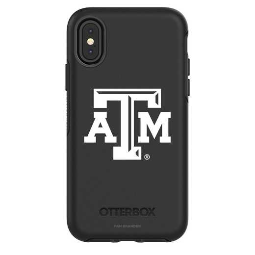 IPH-X-BK-SYM-TAM-D101: FB Texas A&M iPhone X Symmetry Series Case